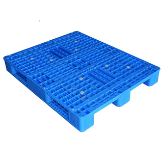 Warehouse Medium Duty Injection Static Load 4 Ton Turnover Plastic Pallet with 3 Runners