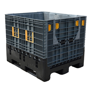 Heavy Duty Warehouse Storage Large HDPE Collapsible Plastic Pallet Box for Automative Parts