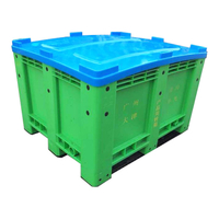 Solid Plastic Pallet Bin Box For Battery Recycling