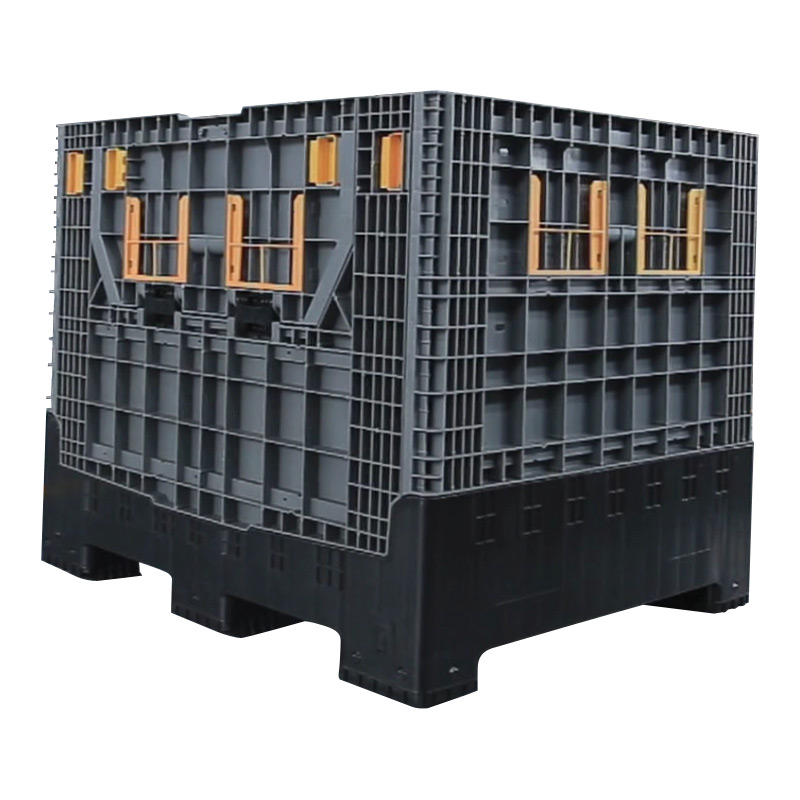 Heavy Duty Collapsible Container Large Stackable Folding Plastic Pallet Box